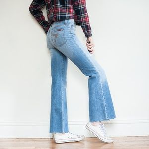 *7 for all mankind* DOJO raw hem flare jeans